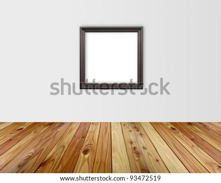 modern interior room with black vintage frame
