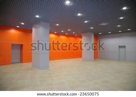 modern interior with columns