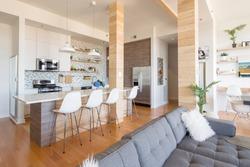 Modern Interiors Penthouse Condo Kitchen