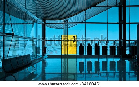 Modern International airport interior background