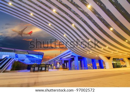 modern international airport terminal in china