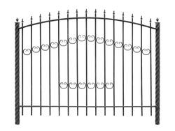 Modern iron light fence . Isolated over white background.
