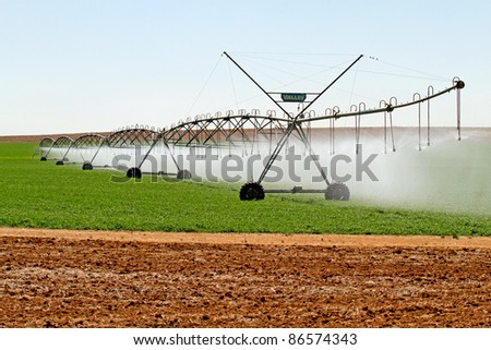 Modern irrigation system in South africa