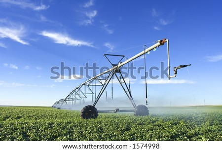 Modern irrigation tool - stock photo