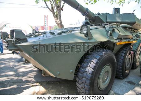 Modern italian military tank