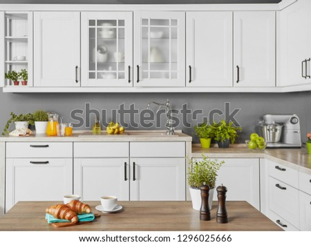 Modern kitchen and counter top
