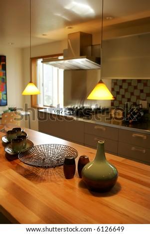 Modern kitchen counter in fancy house