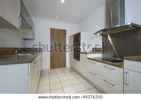 modern kitchen detail with separate work areas