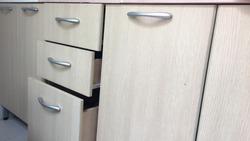 Modern kitchen drawer and door cabinets.