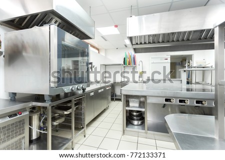 Modern kitchen equipment in a restaurant #772133371