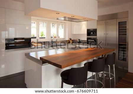 modern kitchen in luxury...