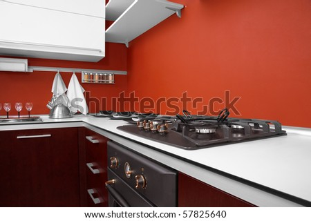 Modern kitchen in new house