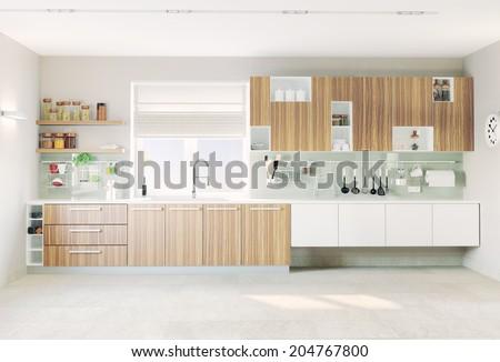modern kitchen interior (CG concept)