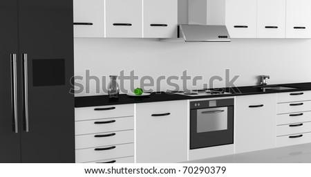 Modern Kitchen Interior Design (High Resolution Image)