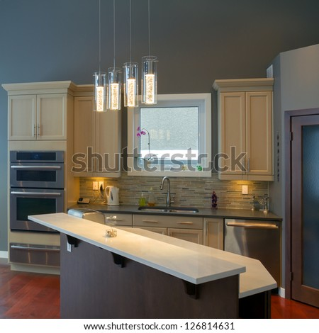 Modern kitchen Interior design  in a new house