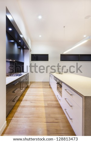 Modern kitchen interior in luxury house