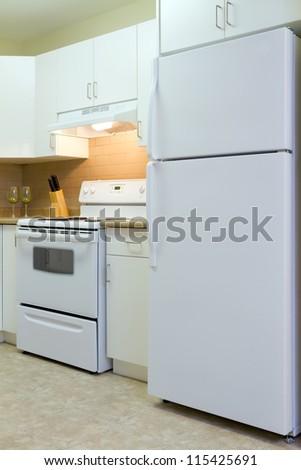 Modern kitchen interior in new home