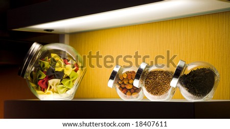 modern kitchen interior in the new home - stock photo