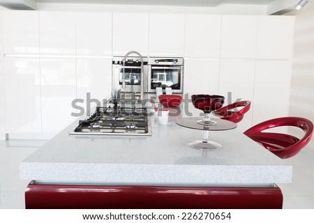 modern kitchen set up