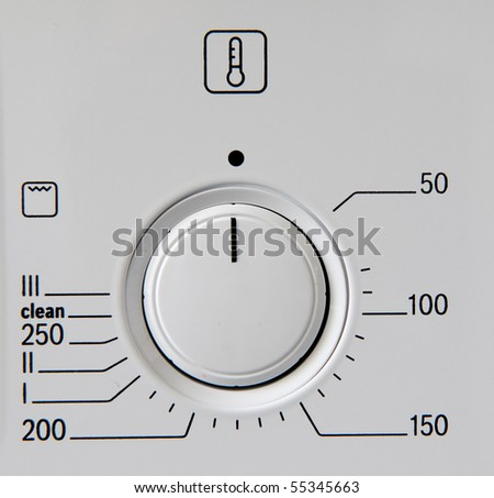 Modern kitchen stove control panel