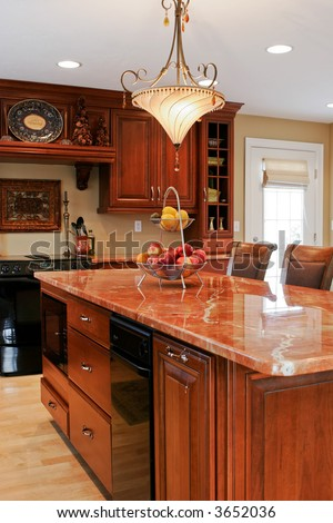 modern kitchen with classic elements