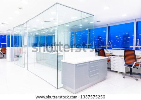 Laboratory equipment,Modern laboratory background  Images and Stock