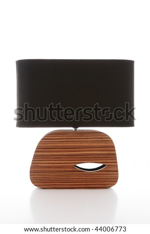 Modern lamp on a white background