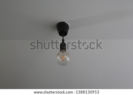 modern lamp with a modern wall