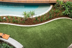 Modern landscaped garden