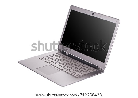 modern laptop computer isolated ...