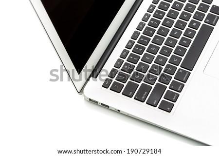 Modern laptop computer on white #190729184