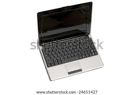 Modern laptop isolated on the white