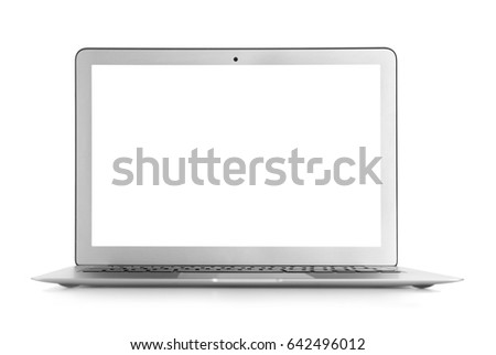 Modern laptop isolated on white #642496012