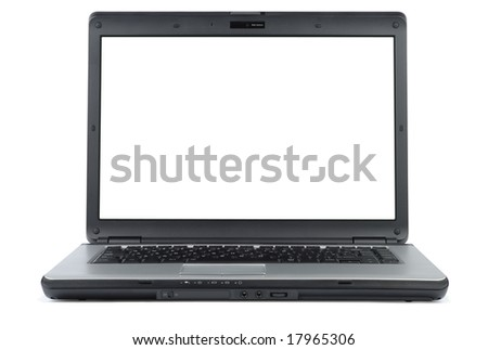Modern laptop isolated with clipping path over white
