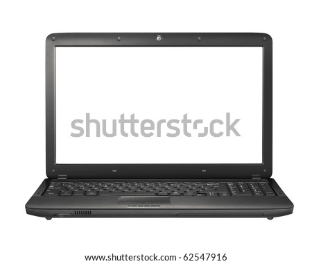 Modern laptop on the white background