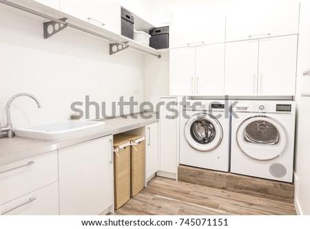 Modern laundry room #745071151