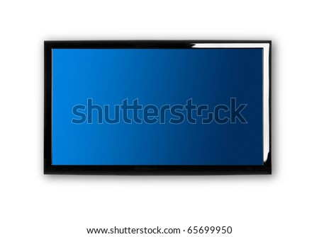 Modern lcd TV on a white wall