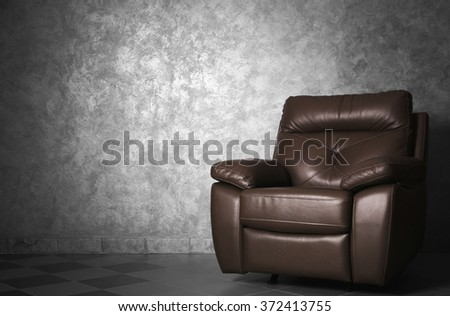 Modern leather chair in the living room, close up #372413755