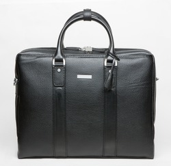 modern leather men bag isolated