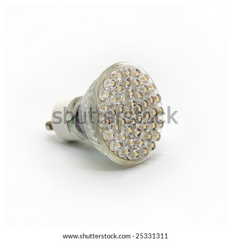 Modern LED Light Bulb on White Background 1