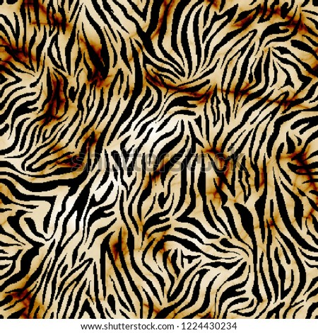 Modern leopard pattern