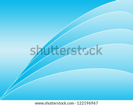 Modern light blue background.