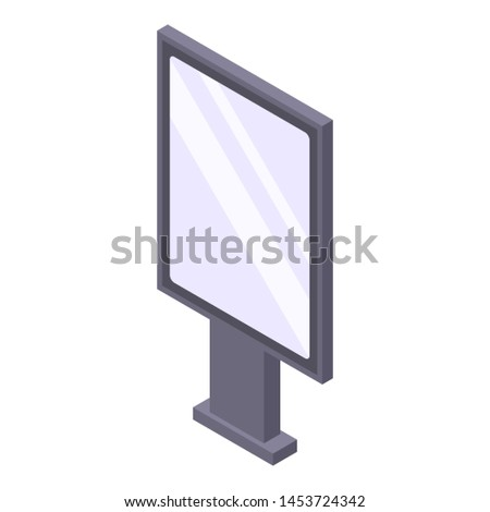 Modern lightbox icon. Isometric of modern lightbox icon for web design isolated on white background