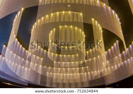 Modern Lighting on the ceiling, background . #752634844