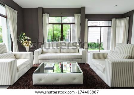 Modern living room  #174405887