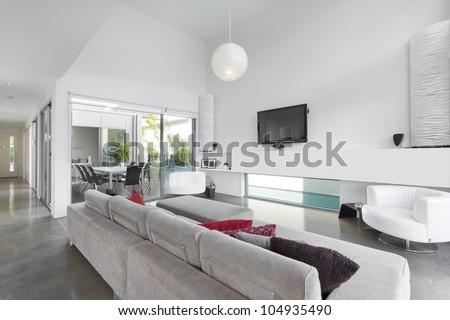 Modern living room in Australian mansion #104935490