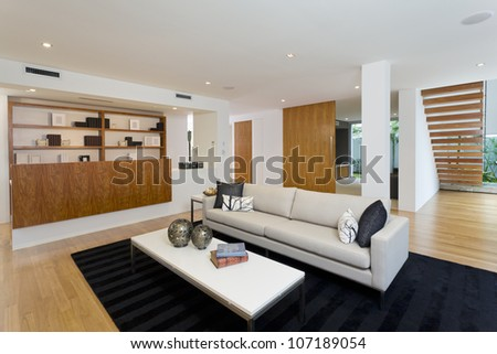 Modern living room in new home