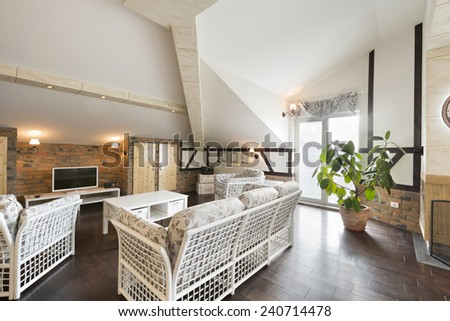 Modern living room interior  #240714478