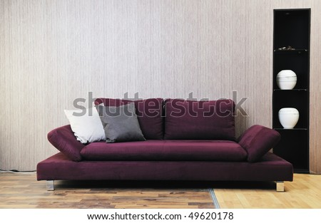 modern living room interior atstylish furniture and sofa