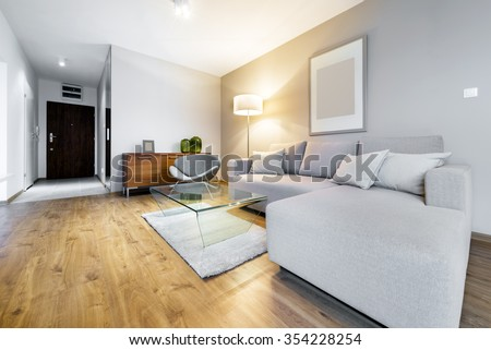 Modern living room interior design apartment